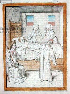 Chantilly Ms 680/1389 Antonius von Pforr, Buch der Beispiele, vermutlich für Graf Eberhart im Bart verfasst. Der Zeichner ist möglicherweise identisch mit dem des Fechtbuches von 1467 von Hans Thalhofer.