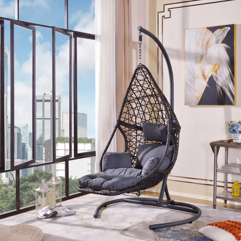 Cleorand Swing Chair With Stand In 2020 Hanging Chair With Stand Hanging Chair Swinging Chair