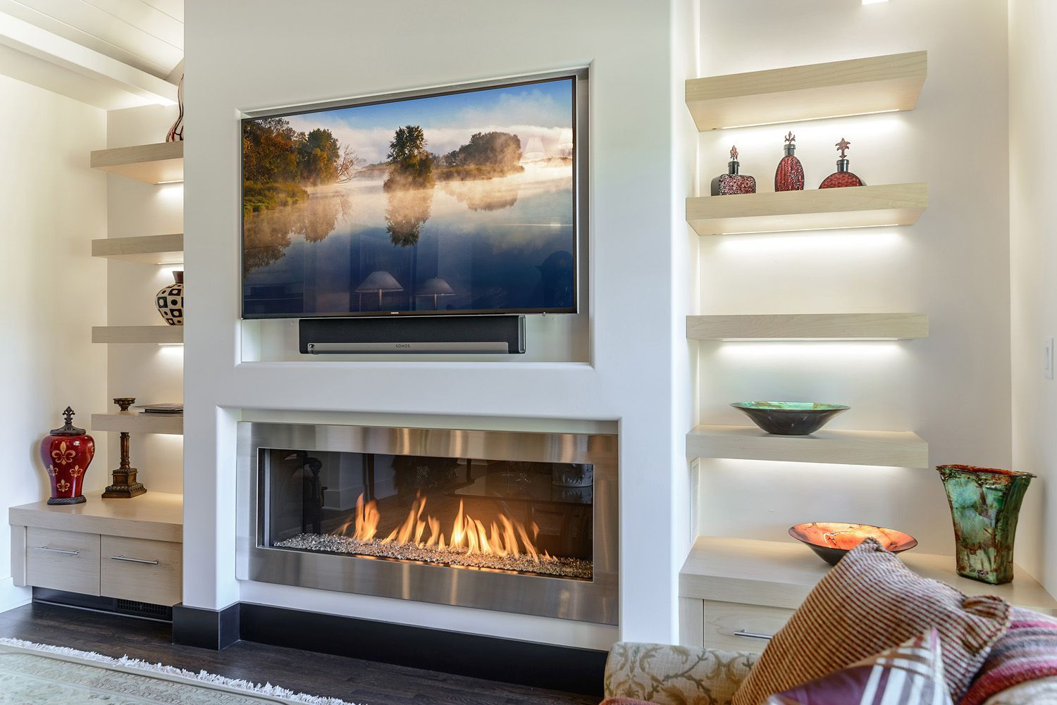 Simple Is The New Bold See Elegant Contemporary Gas Fireplaces Installed In Modern Homes European Ho Elegant Living Room Fireplace Design Fireplace Remodel