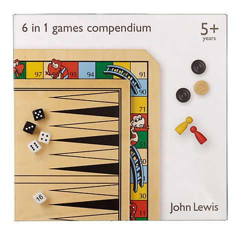 61aa1ca97404 John Lewis 6 in 1 Games Compendium | Family Fun | Games, All games ...