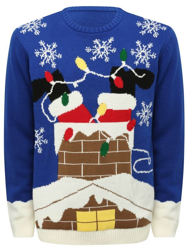 Santa light up Christmas jumper, £39 from M&Co - 15 Christmas Jumpers For Men That Will Get You In The Festive Spirit