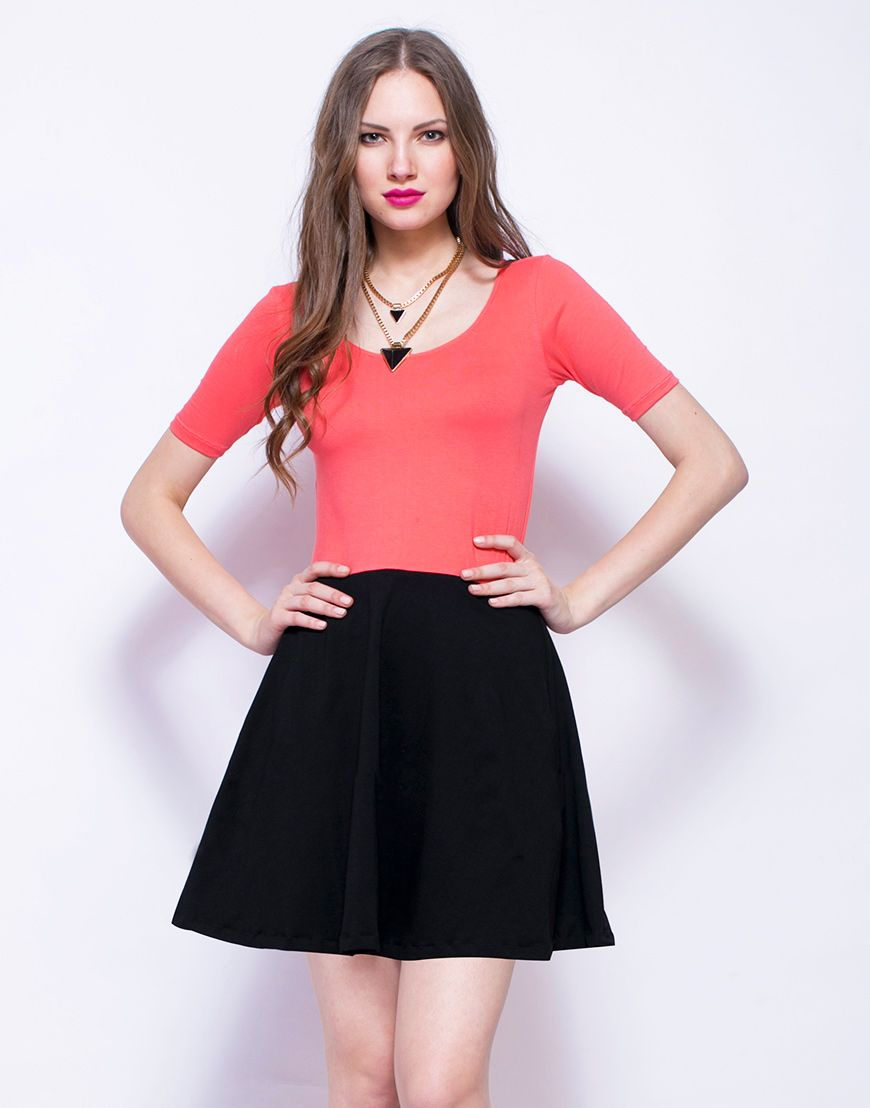 to wear - Skater coral skirt photo video