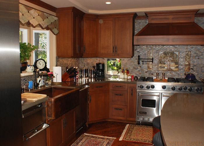 Stainless Range With Copper Sink Google Search Kitchen Cabinet Styles Shaker Style Kitchens