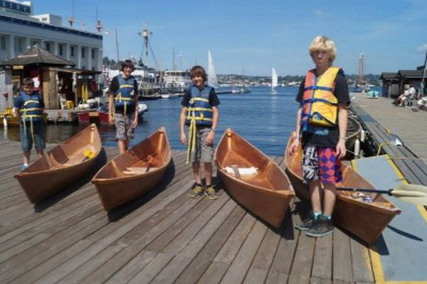Youth Canoe Building #Kids #Events