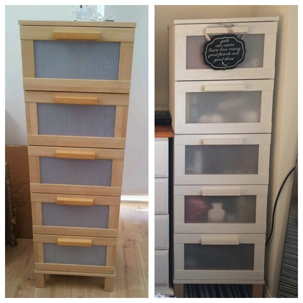 IKEA drawers destined for the tip, up cycled in Authentico Pebbles for my latest project