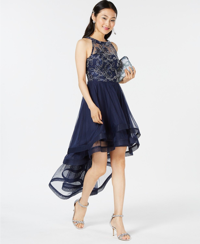 f377e33ec Speechless Juniors' Tiered High-Low Dress, Created for Macy's - Dresses -  Juniors - Macy's
