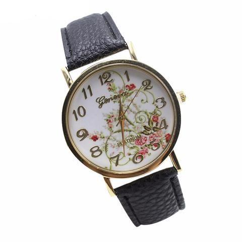 e168badfd72f Geneva Leather Band Analog Quartz Vogue Wrist Watches Quartz-wantch reloj  pulsera mujer relojes femmes Watch