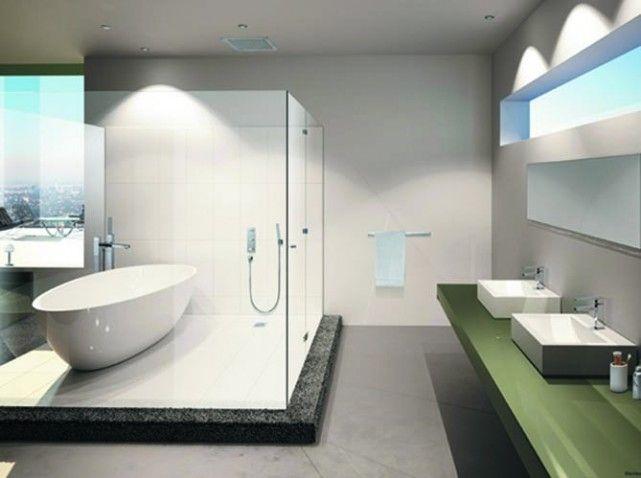 Best Salle De Bain Moderne Avec Douche Italienne Et Baignoire ...