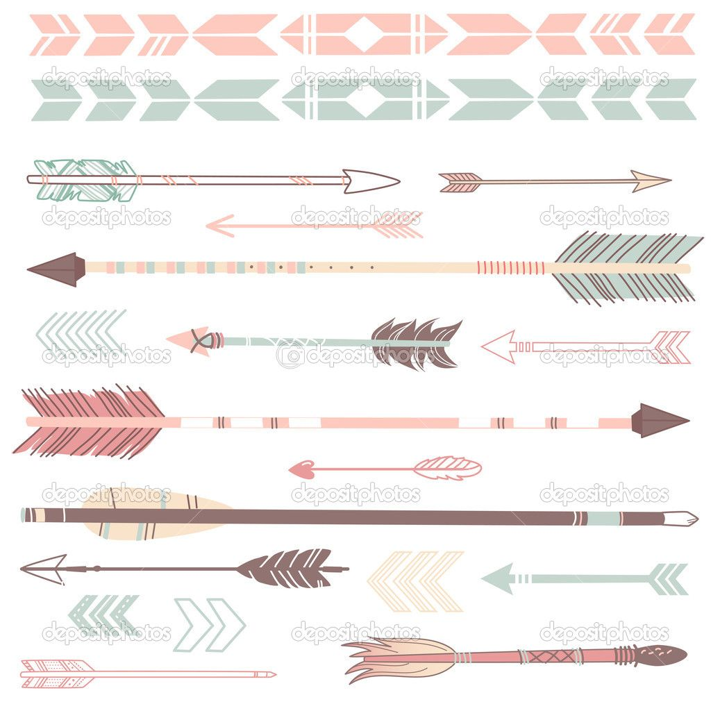 Pretty Vintage Curved Arrow Clipart