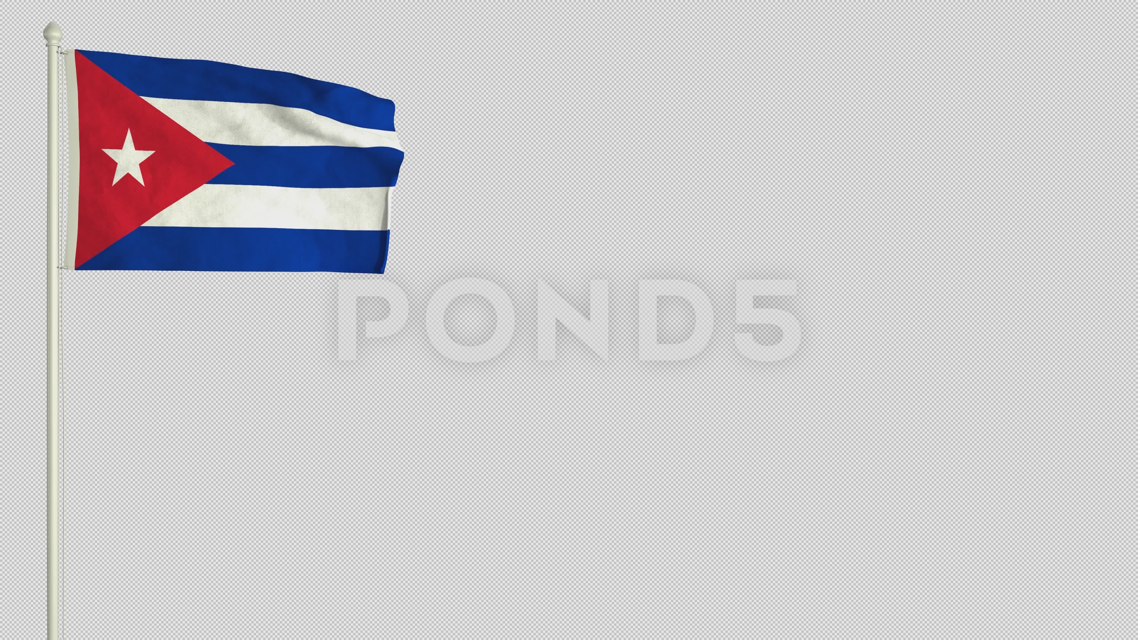 Cuban Flag Waving In The Wind With Png Alpha Channel Stock Footage Waving Wind Cuban Flag Cuban Flag Flag Wind