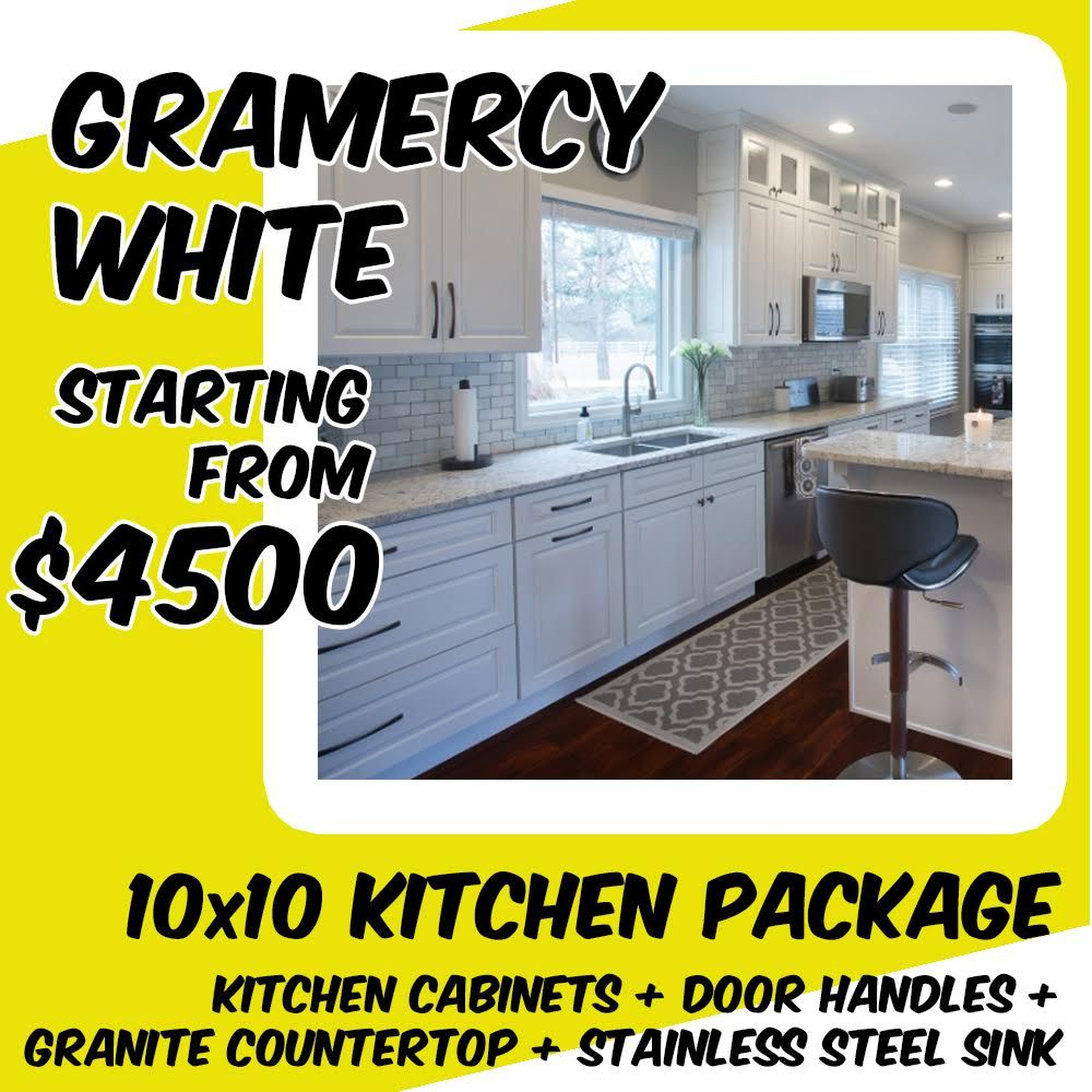 Economy Package For Gramercy White 10x10 Kitchen Package Starting From 4500 Economypackage Rta Kitchen Cabinets Online Kitchen Cabinets Free Kitchen Design