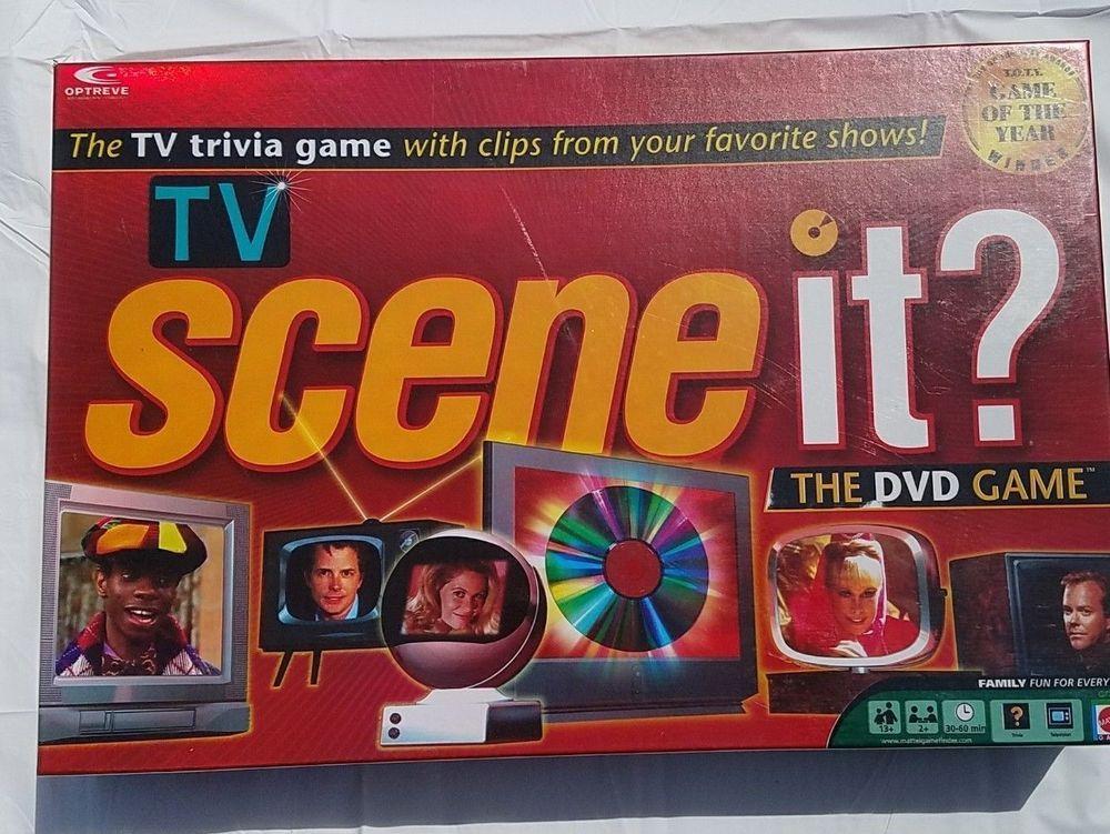 TV Scene It? TV Trivia DVD Board Game Video Clips Clues T