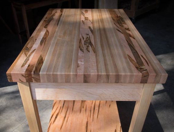 Butcher Block Kitchen Island Table 20 X 30 By Mountainmulehardwood Kitchen Island Table Handcrafted Table Butcher Block Island Kitchen