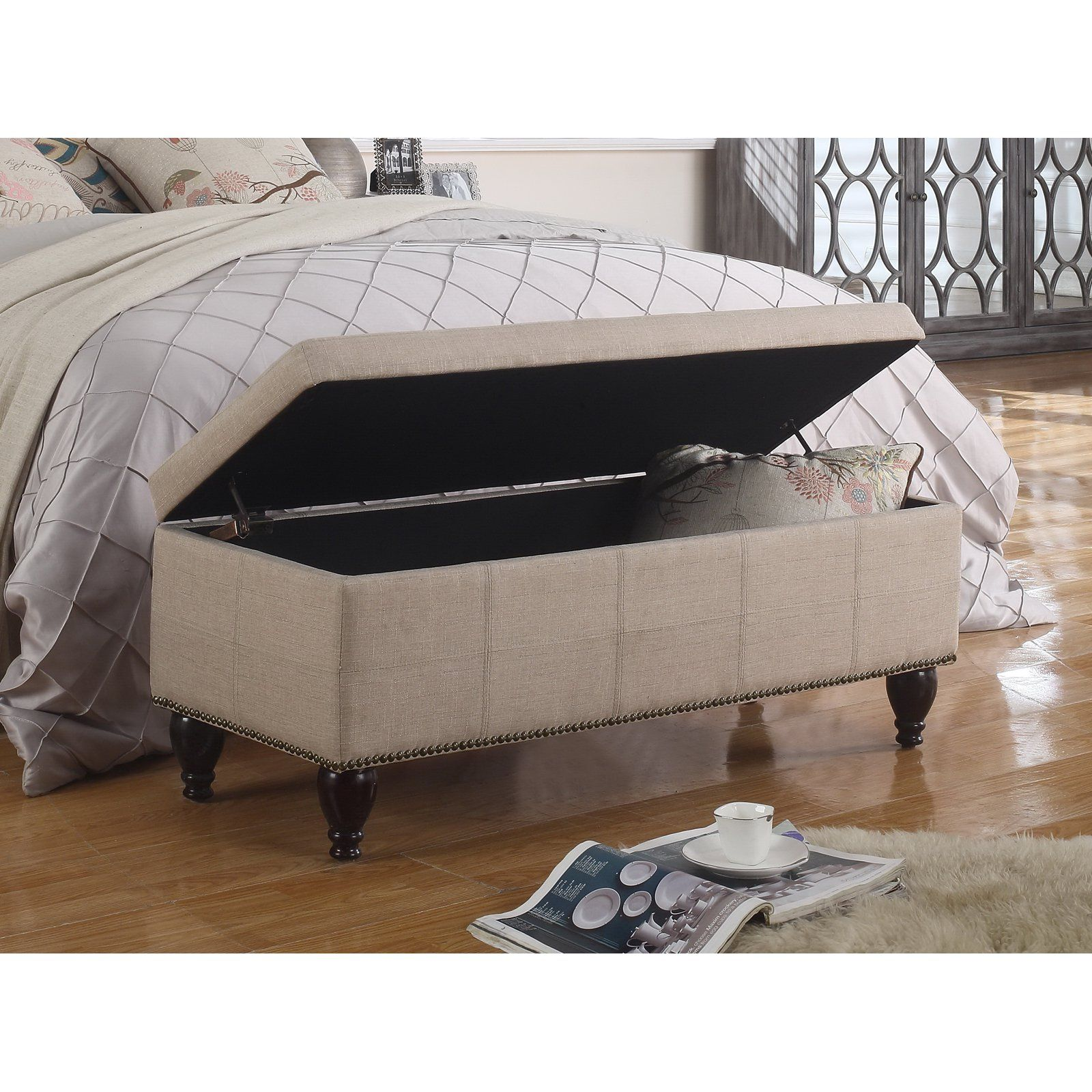 Terrific Rosevera Elmo Upholstered Ottoman Storage Bedroom Bench Ocoug Best Dining Table And Chair Ideas Images Ocougorg