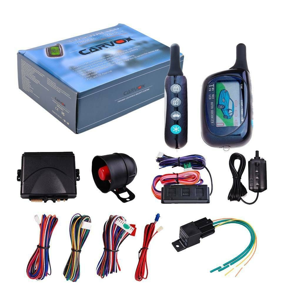 Advertisement Ebay 2 Ways Car Lcd Alarm Auto Security System With Remote Car Alarm Remote Control Cars Security System