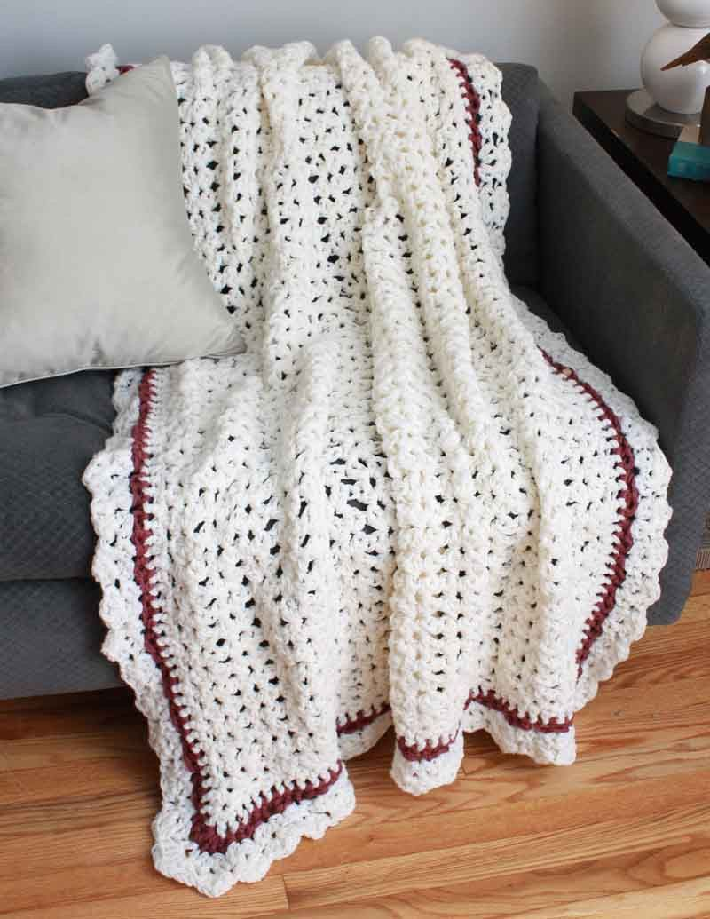 Shell Elegance Afghan Crochet Pattern | Manta, Mantas de bebes y ...