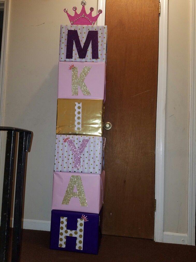 Princess Theme Babyshower One Crafty Mommy Name Blocks Letter Blocks