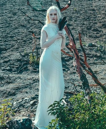 Bias Cadence Bridal Gown by With Hearts In My Eyes.