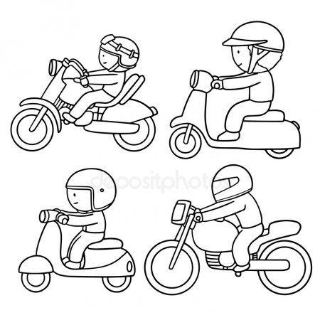 Jeu de moto vectorielles | Dessin vectoriel, Vectoriel, Moto