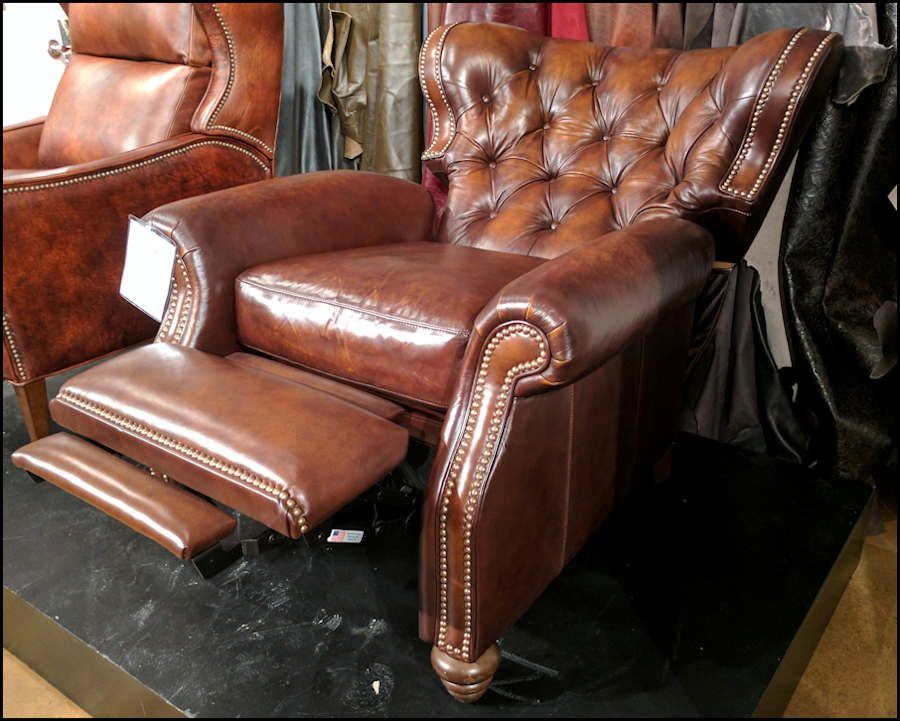 American Made Tufted Leather Recliner | Leather recliner