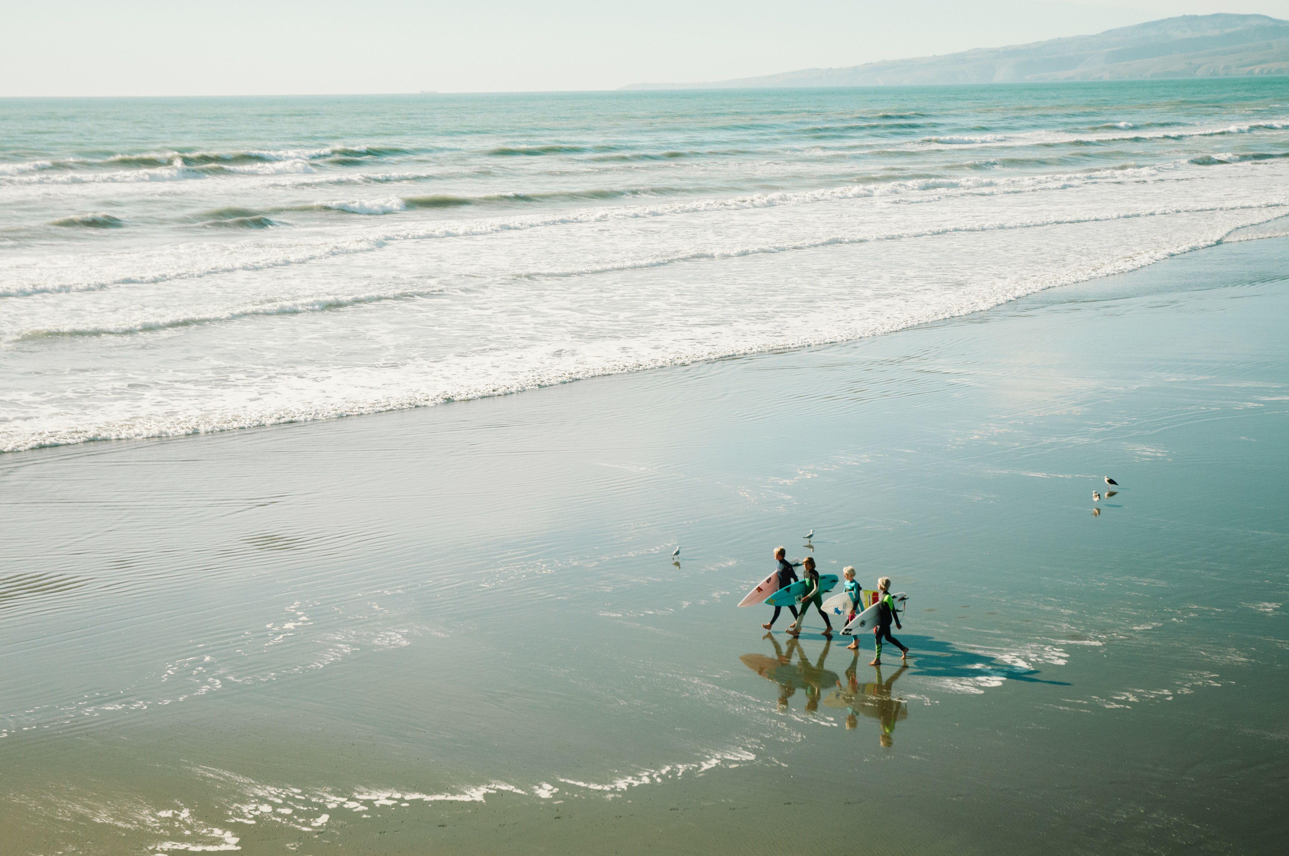 New Brighton Christchurch New Zealand Agodagiift Life Is An Adventure Surfing Beach