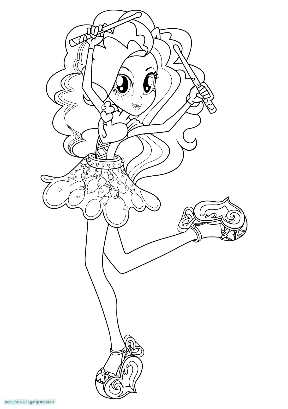 Equestria Girls Rainbow Rocks Coloring Pages