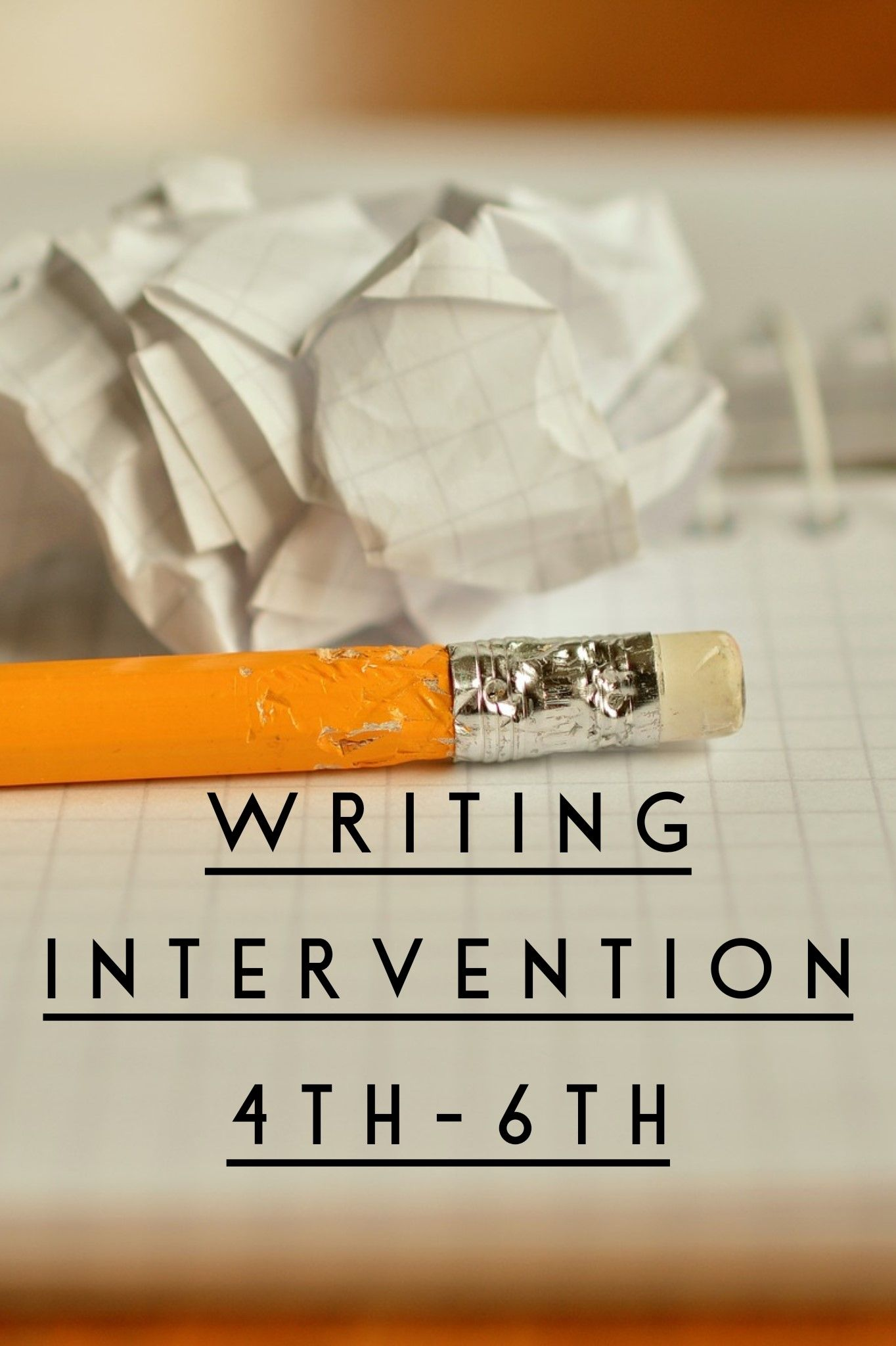 Writing Intervention Worksheets 4th 6th In