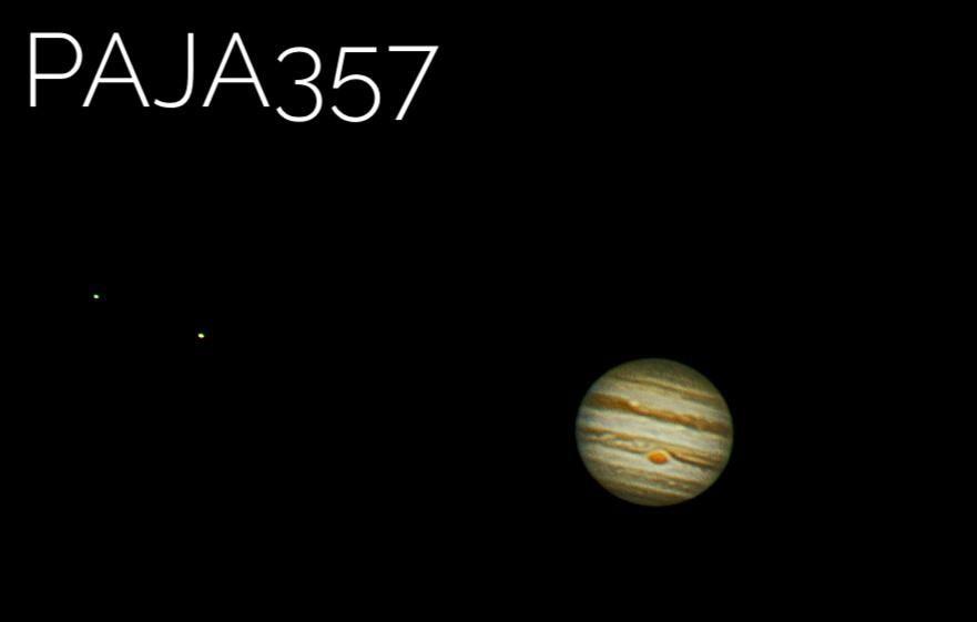 Jupiter through a telescope - YouTube