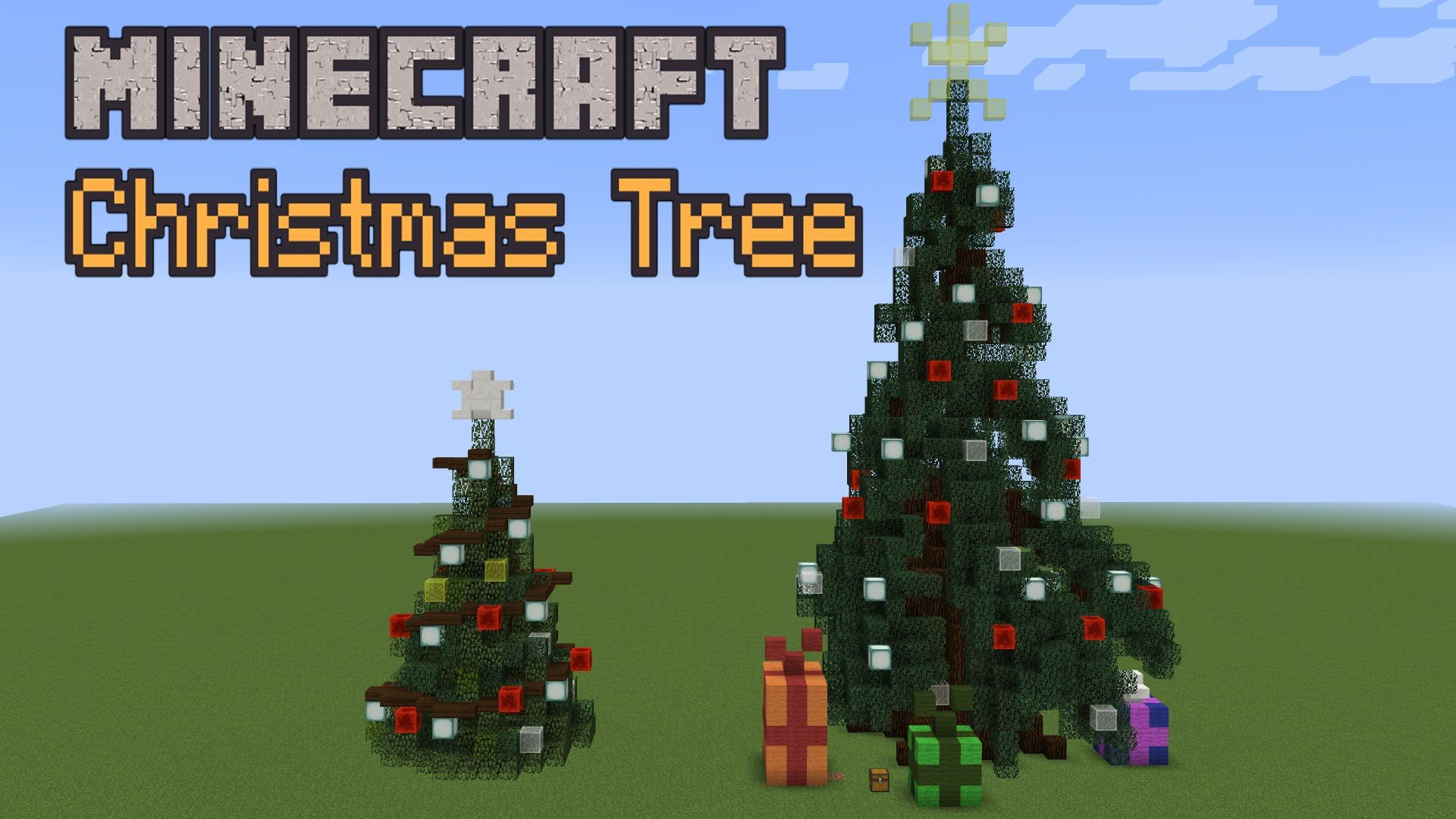 Building With Grian Christmas Tree Youtube Minecraft Christmas Minecraft Christmas Tree Minecraft Designs