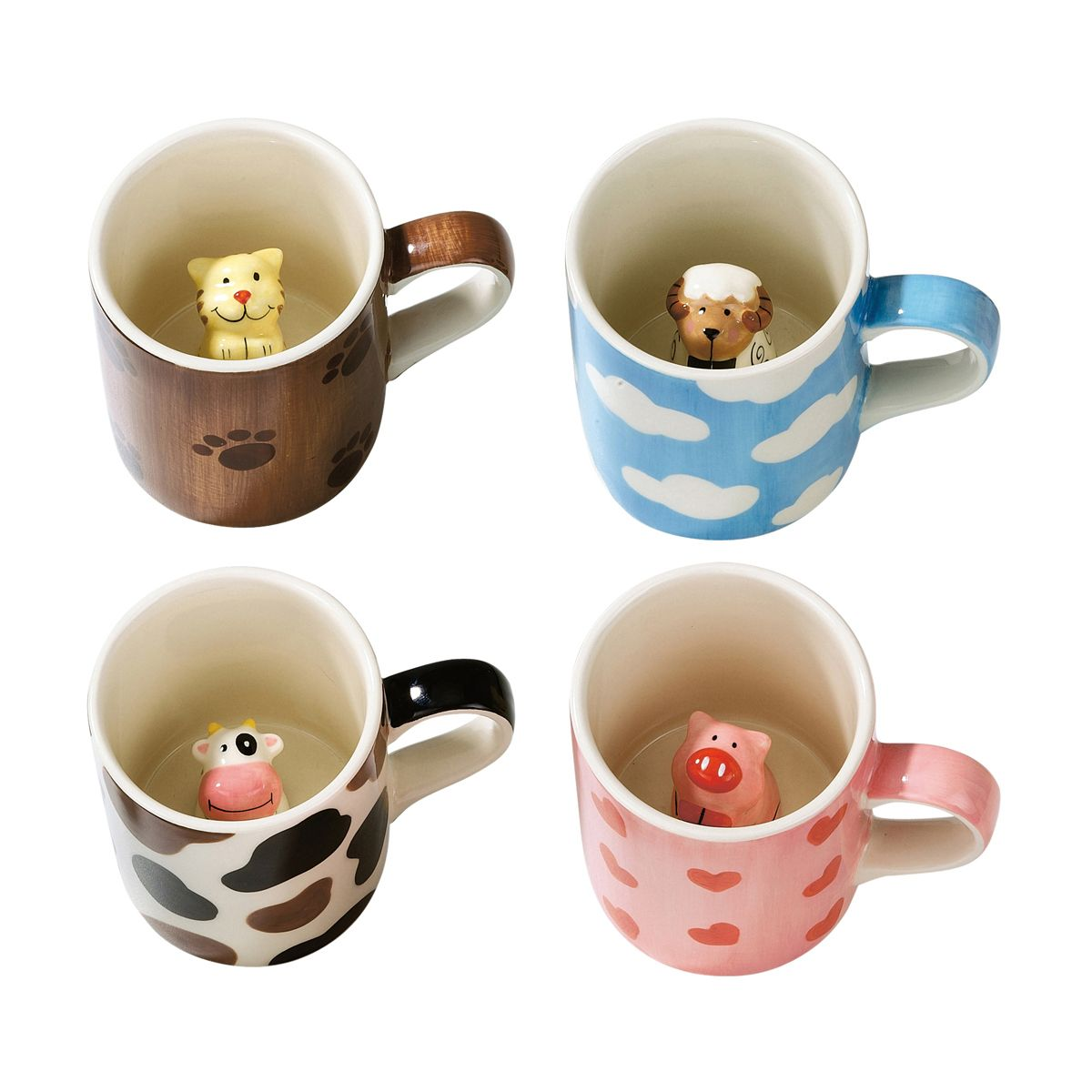 e36d3ddeca6 Adorable little children's mugs are hiding a cute ceramic animal inside  SORRY COW MUG OUT OF