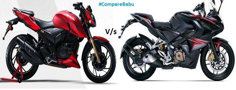 Compare TVS Apache RTR 200 Vs Bajaj Pulsar RS200