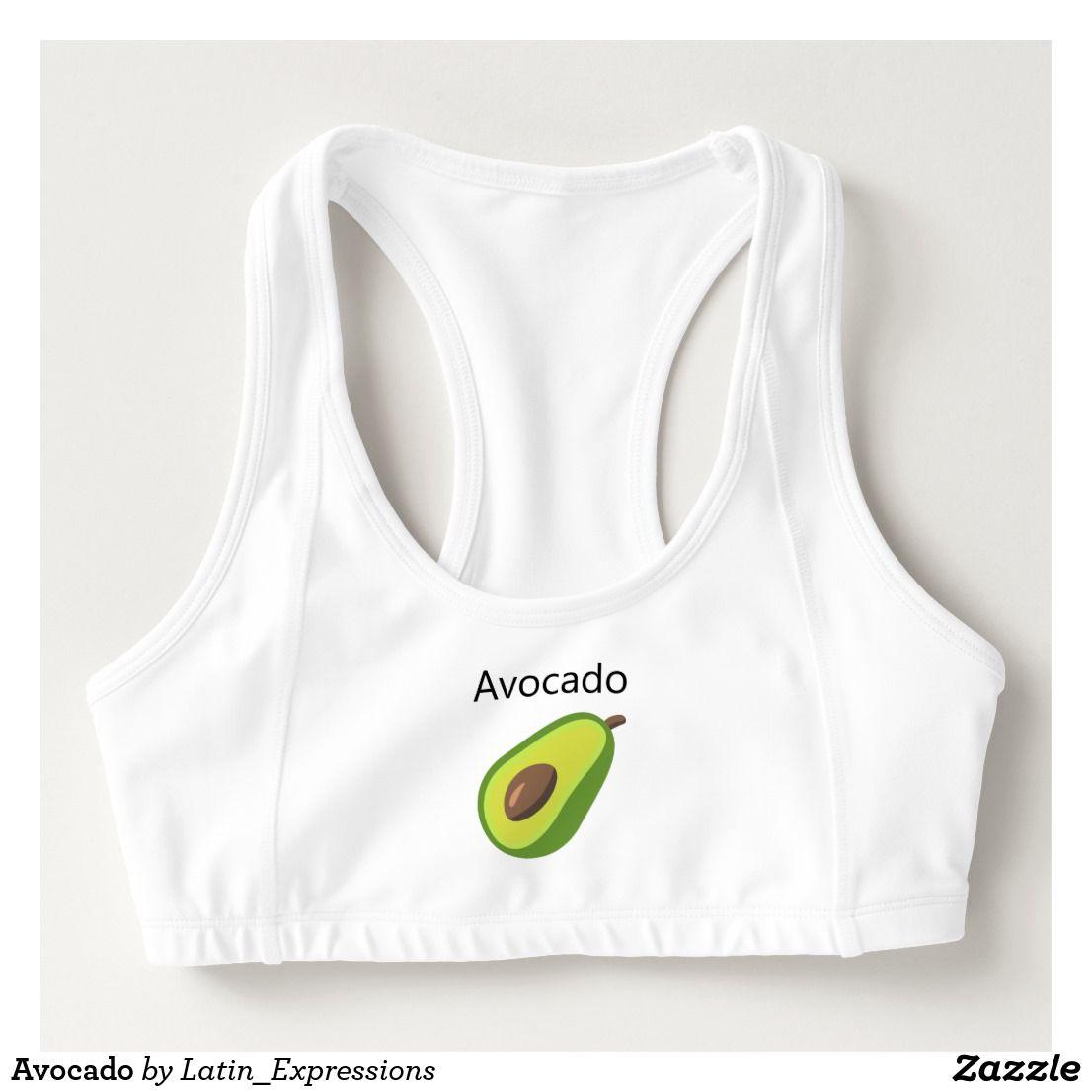 5fe2b9a756 Avocado Sports Bra by Latin Expressions on Zazzle