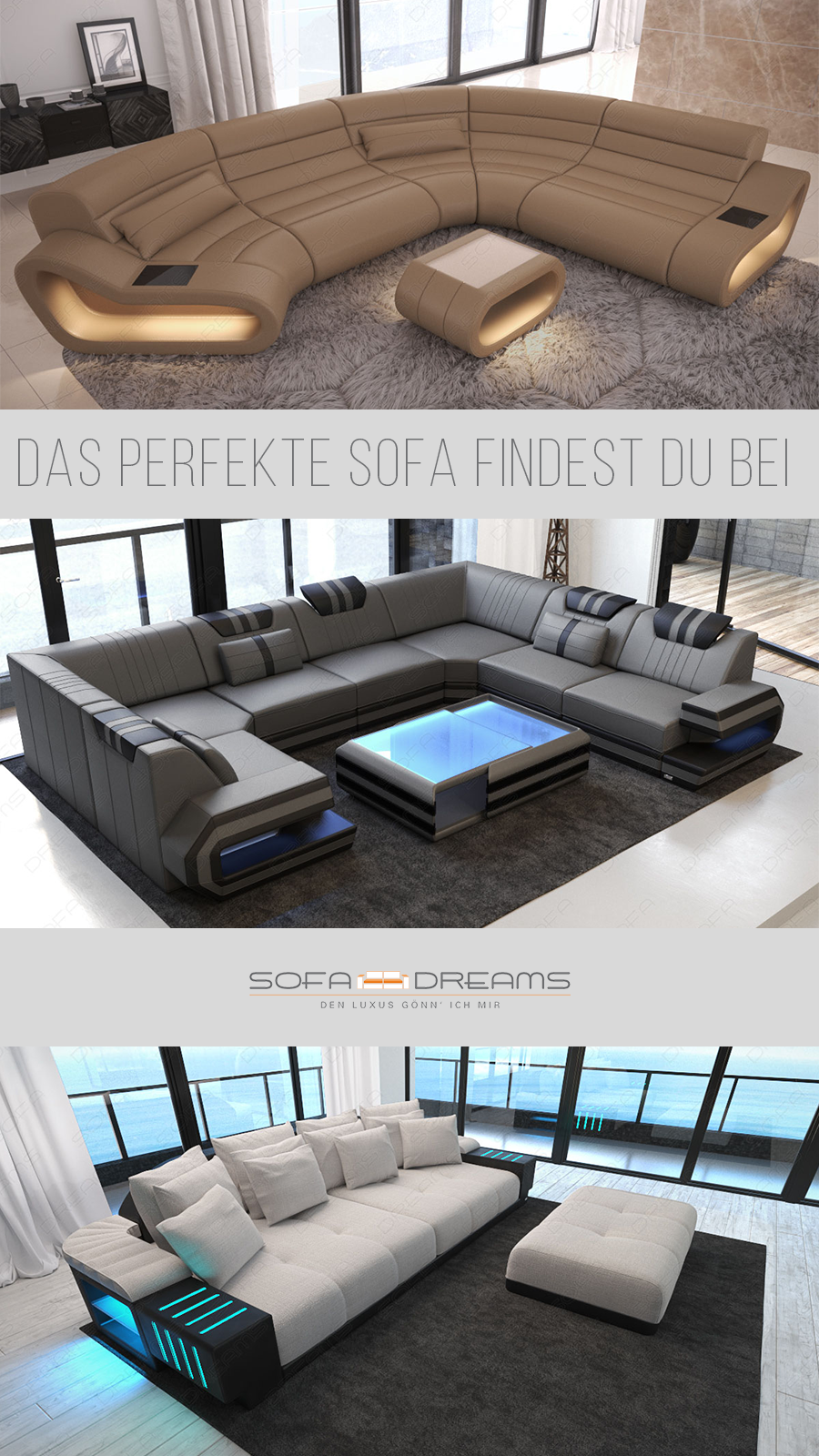 Das perfekte Sofa im modernen Stil für dein Wohnzimmer findest du