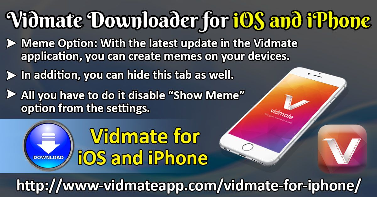 Vidmate Is An Application Which Allows The Download Of Videos From Websites Like Youtube Or Any Other Video Streaming Websit Video Streaming Iphone Meme Iphone