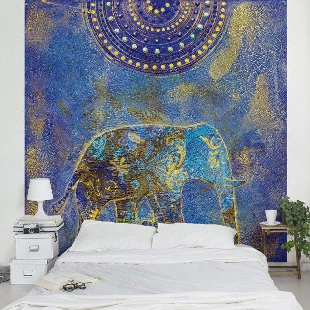 Amazing Wandgestaltung Orientalisches Schlafzimmer #4: #Vliestapete - #Elephant In #Marrakech - Fototapete Quadrat #orientalisch  #Wohnen #