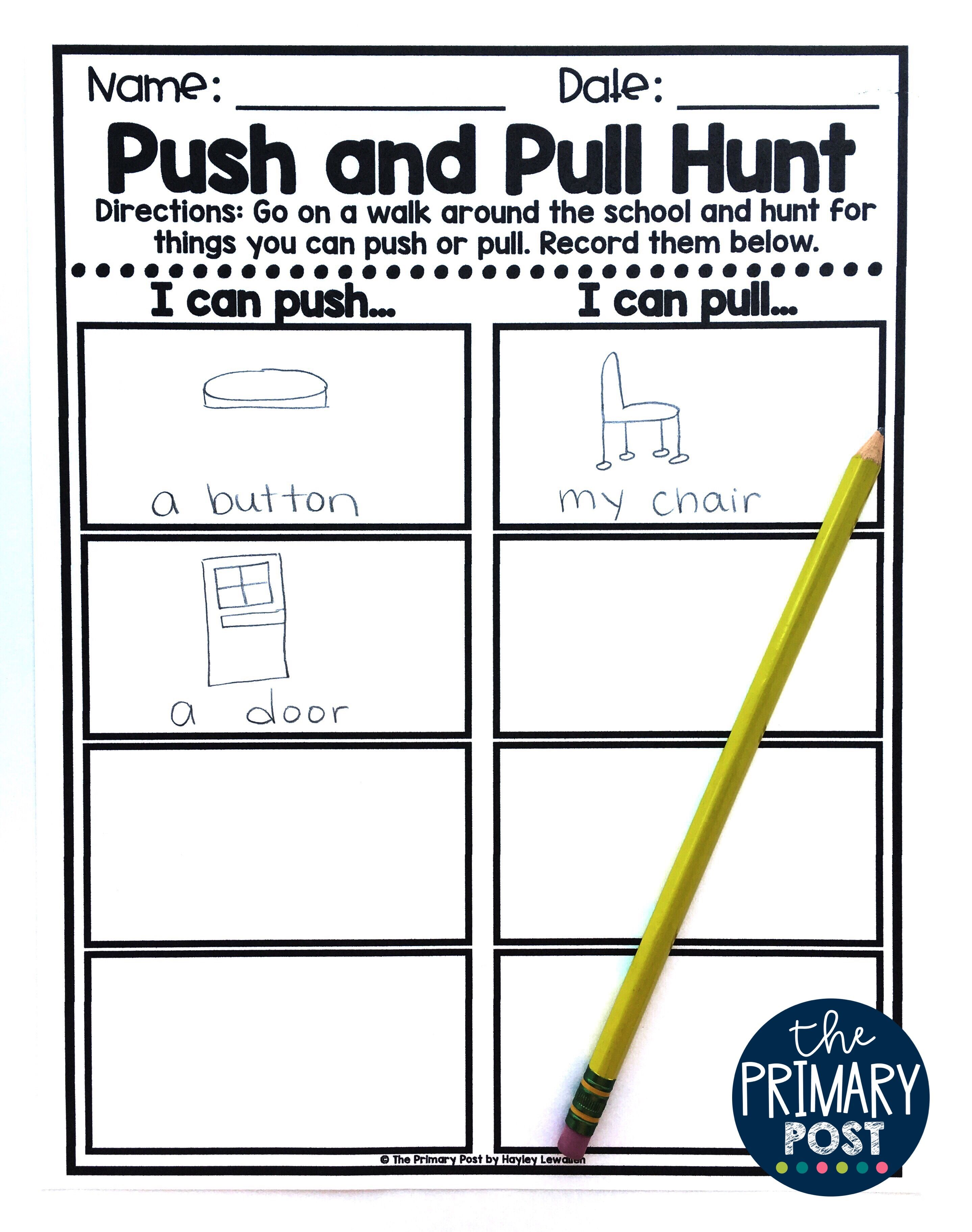 Push And Pull Posters And Activities