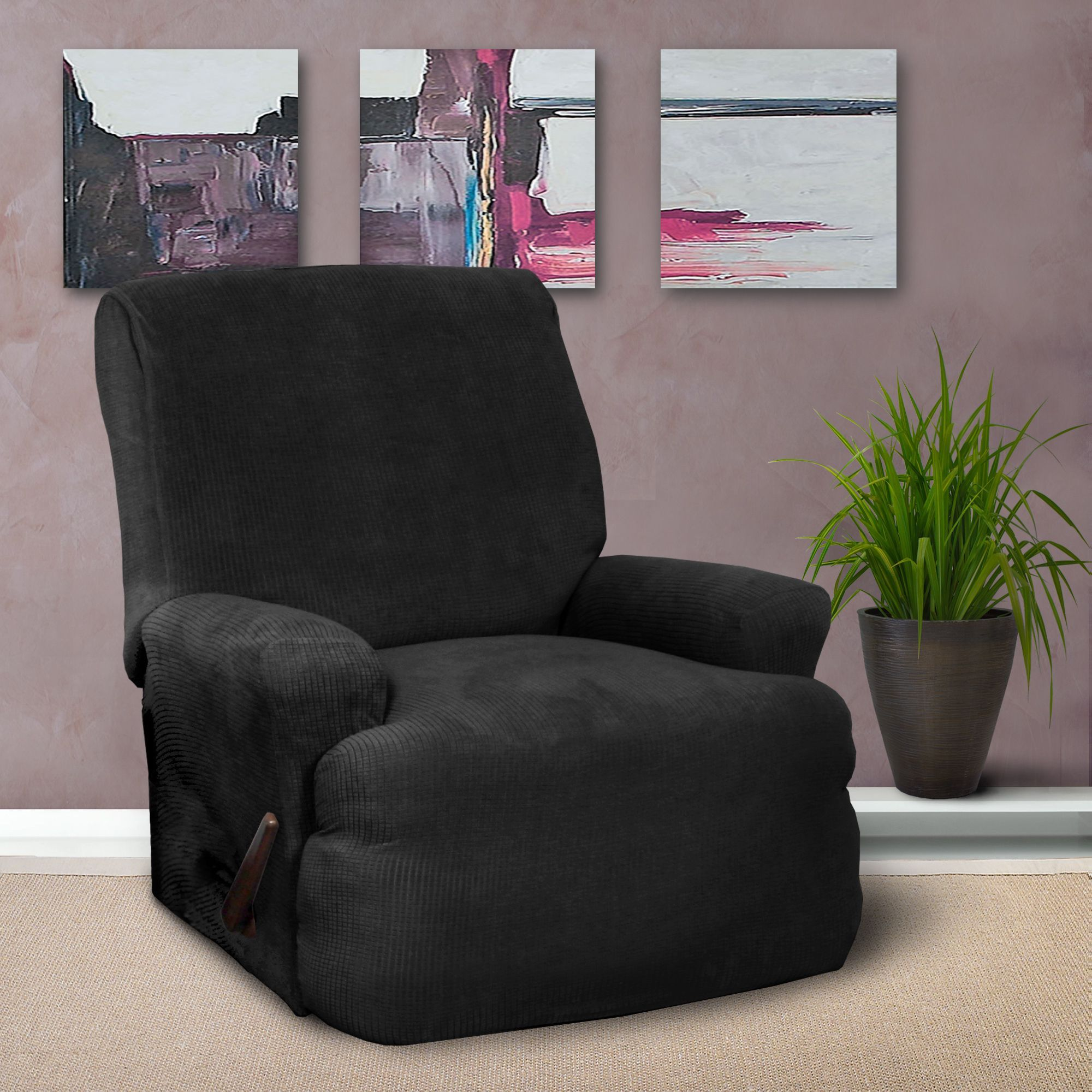 stretch for slipcover recliner and recliners slipcovers pique pin