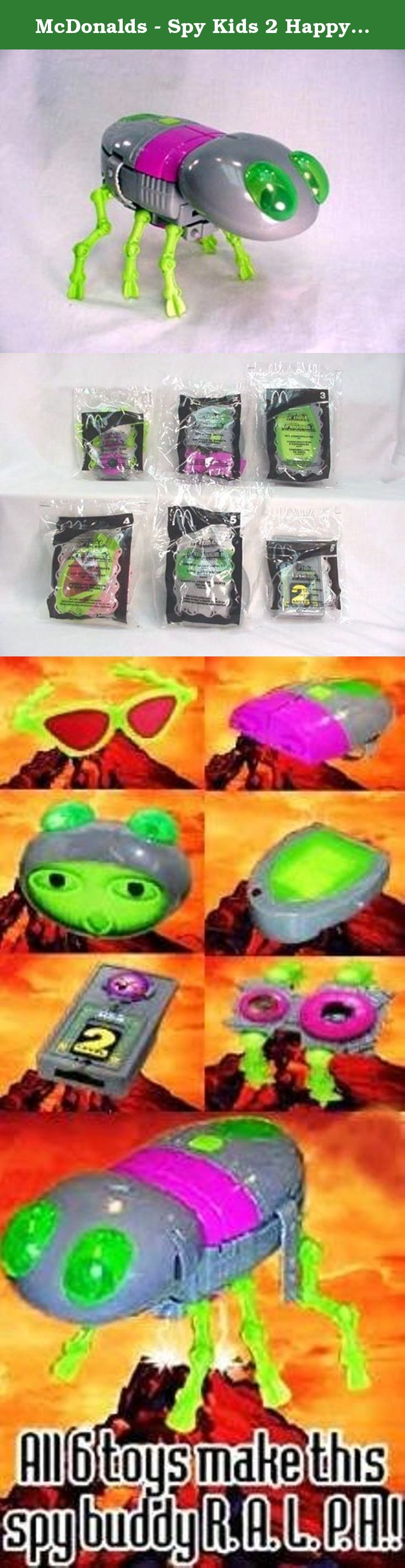 McDonalds Spy Kids 2 Happy Meal Set 2002 During August 2002
