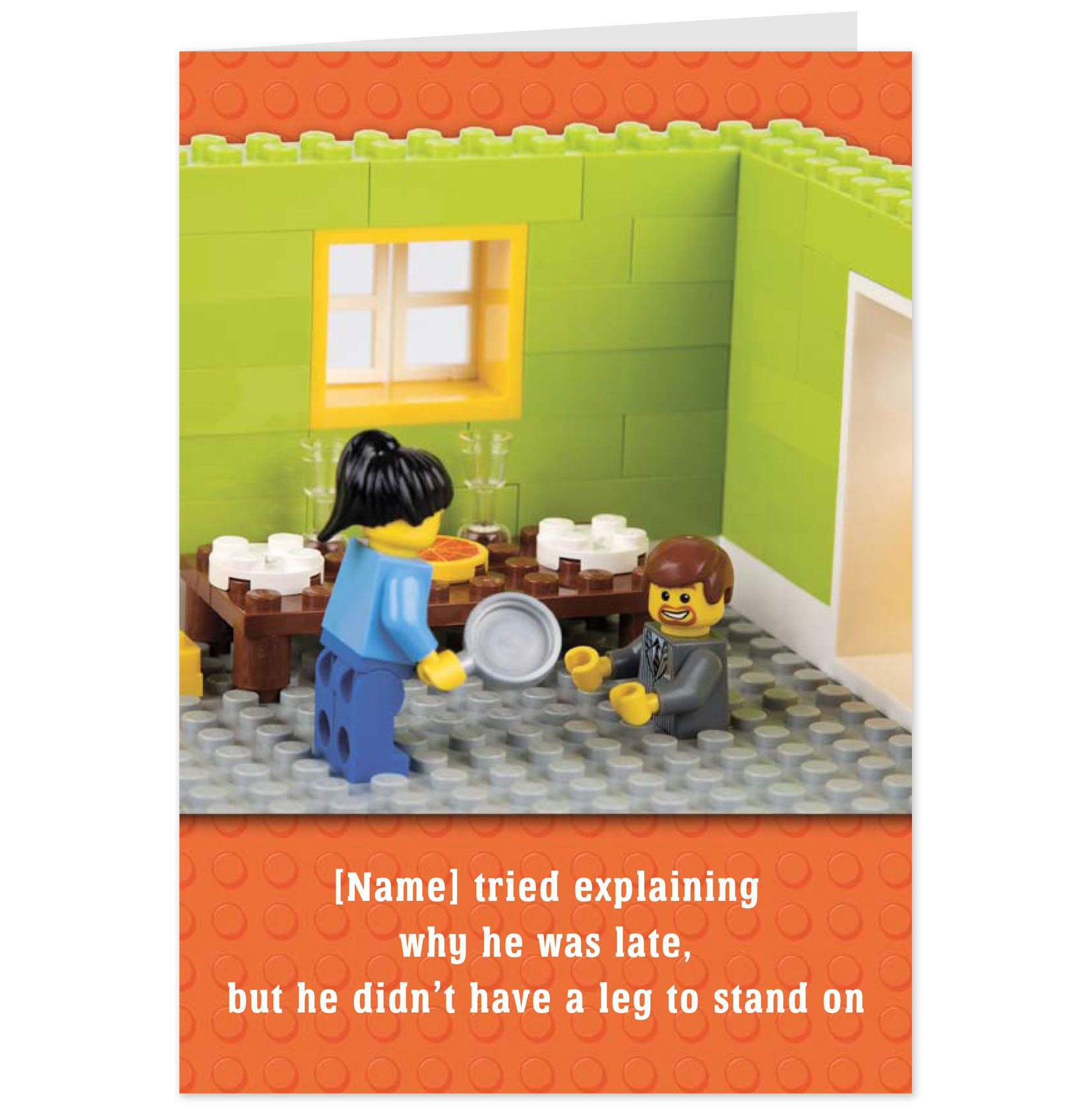 Funny Legos Lego Funny Birthday Card With Kitchen Fight Scene Personalised Funny Birthday Cards Birthday Cards Legos