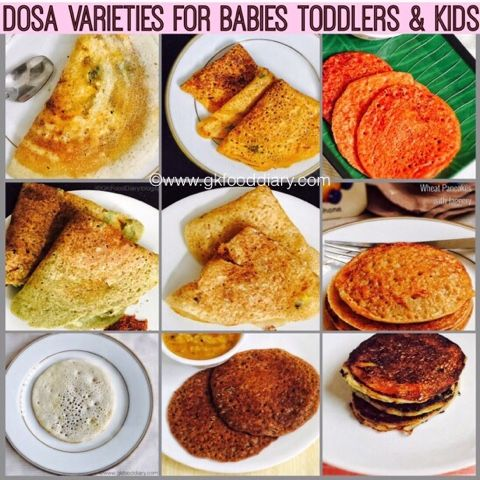 Dosa Recipes For Babies Toddlers And Kids