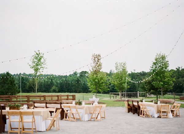 twinkle lights over tables | Mandy Busby #wedding