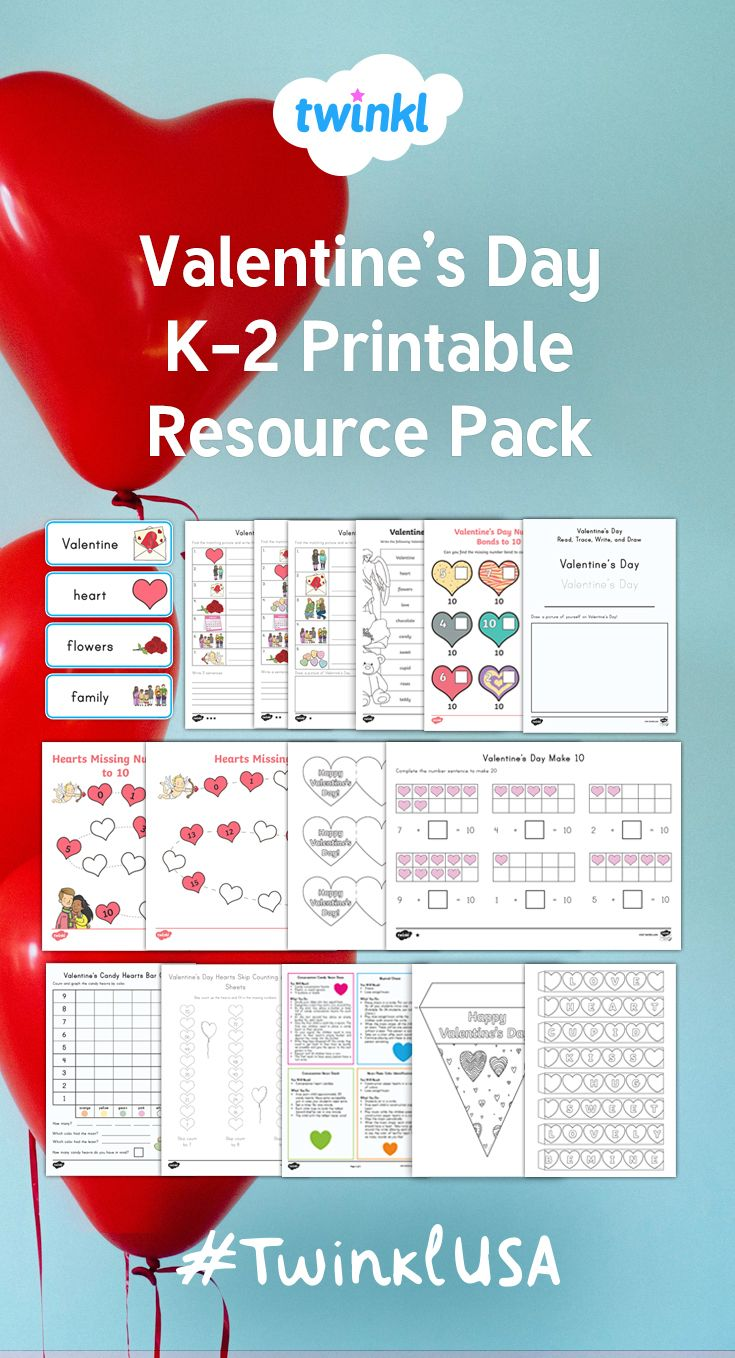 A useful pack with everything you need for Valentine\'s Day for your ...