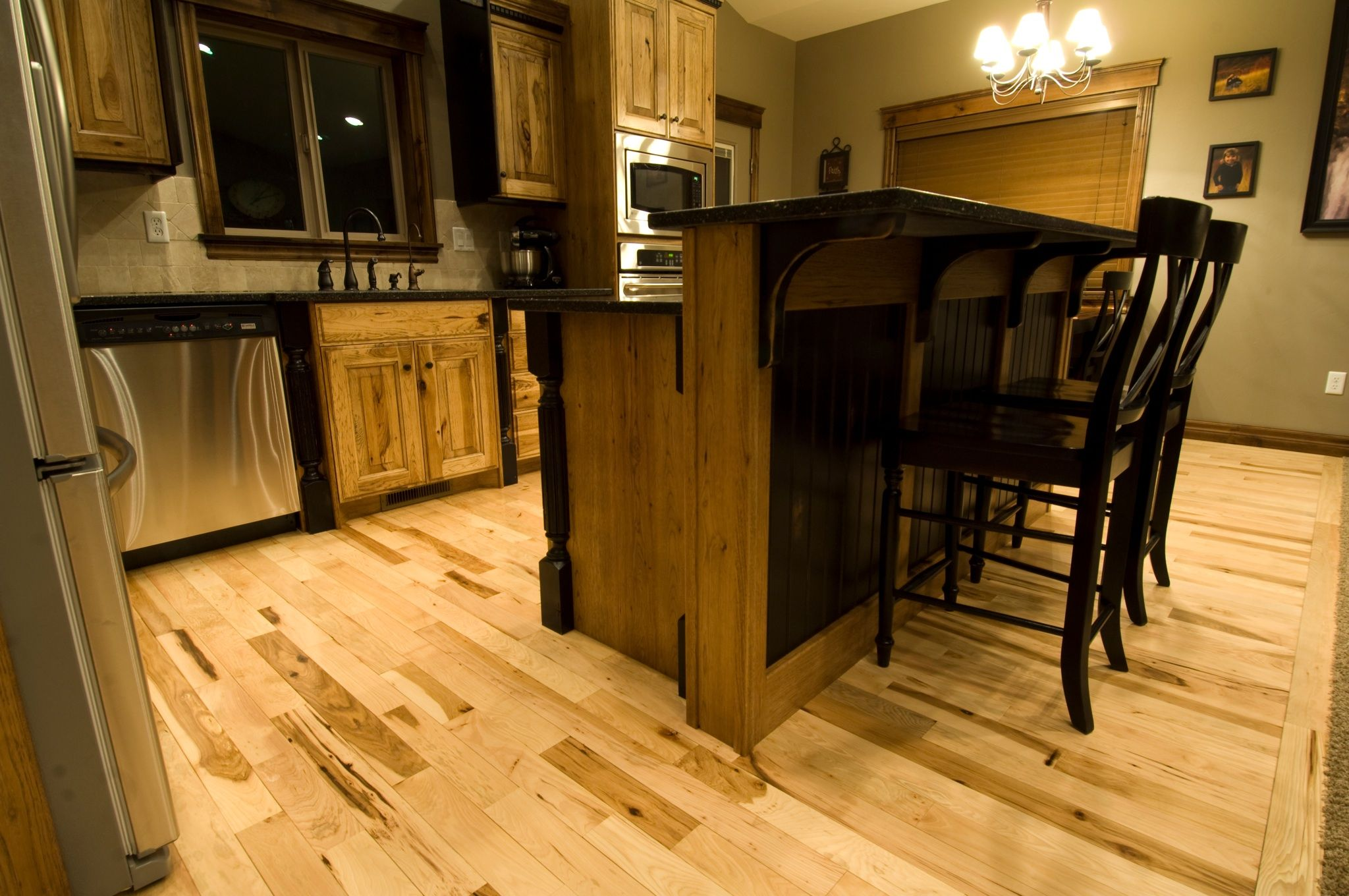Cabin Grade Hickory Floors The Est Hardwood Flooring You Can Get But It S Become So Por That Is Hard To Find