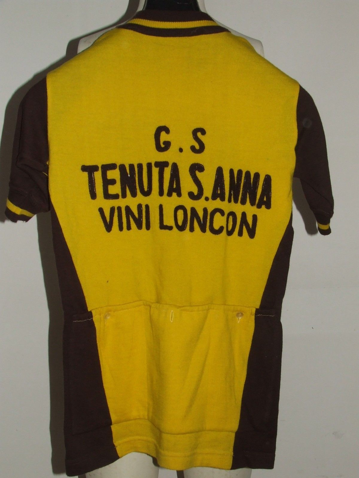 071565b56 SHIRT BIKE SHIRT MAILLOT CYCLING VINTAGE 70 S WINES LONCON 100% WOOL  EMBROIDERED