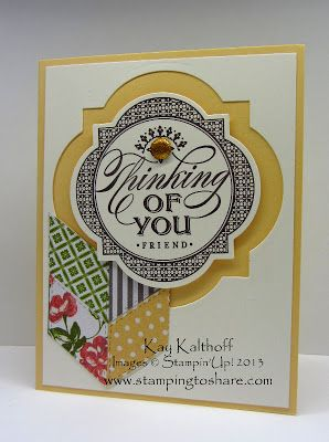 Stamping to Share: 1/24 Stampin' Up! Just Thinking with Video
