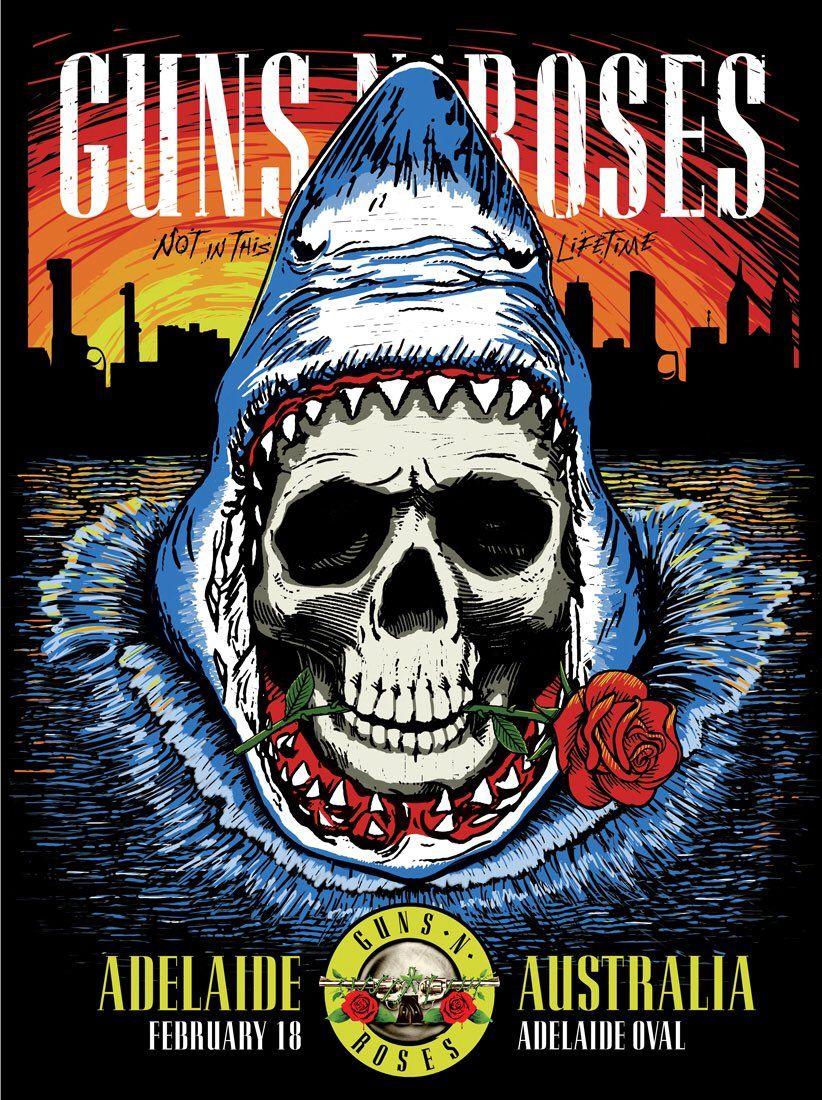 guns n roses concert posters
