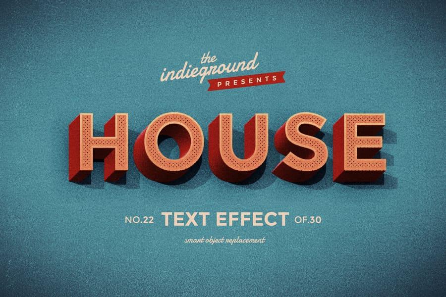Retro Vintage Text Effect N 22 Indieground Design In 2020 Retro Text Text Effects Vintage Text