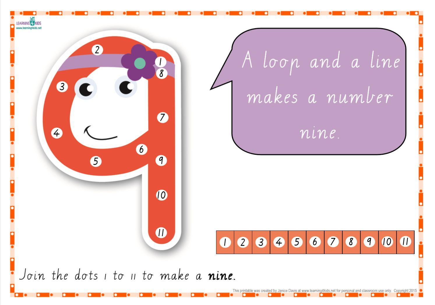 Dot To Dot Number Rhyme Charts Cursive Print