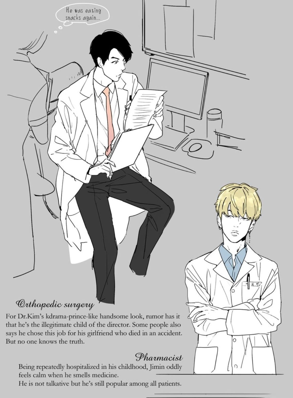 Jin and Jimin as doctors ❤   BTS in 2019   Bts chibi, Bts
