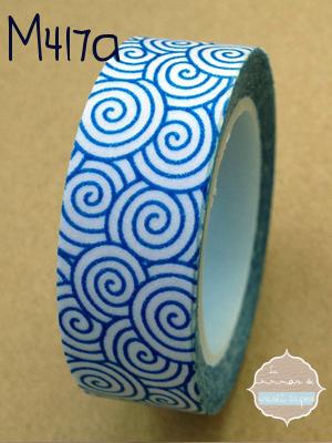 0ca50000fa Washi Tape espirales azules